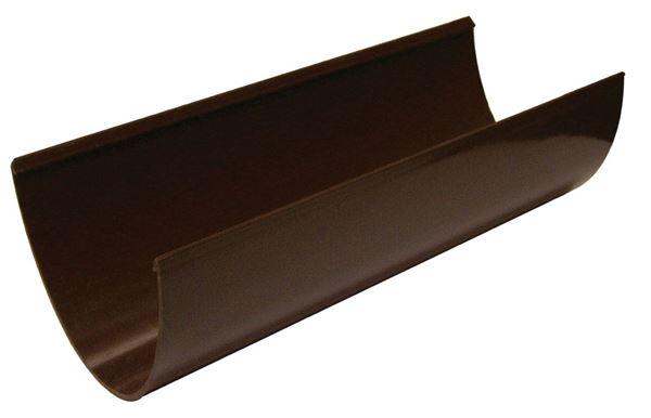 Picture of FLOPLAST 4M HI-CAP GUTTER (BROWN)