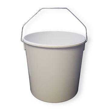 Picture of WHITE PLASTIC BUCKET (10 Litre)
